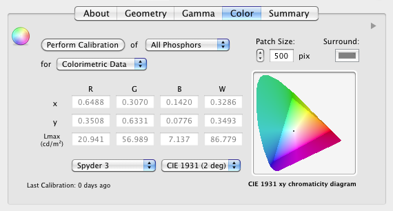 Display calibration this set of xy coordinates defines the limits of the gamut triangle represented in the chromaticity diagram ccuart Images